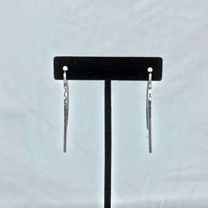 Thread Through Drop Earrings in Sterling Silver